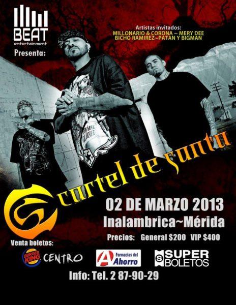 ... en Merida - 2 de Marzo 2013 - Conciertos y Eventos en Cancun 2016