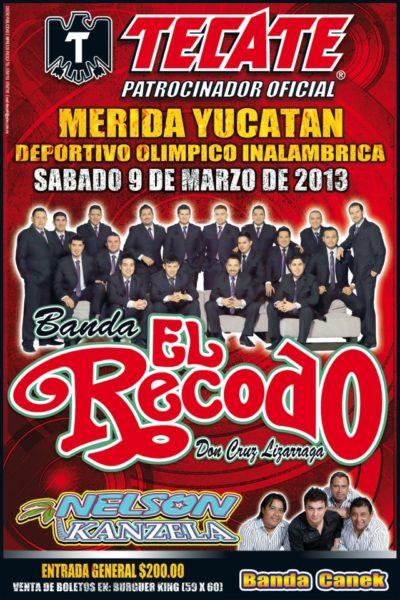 Banda el Recodo en Merida 2013