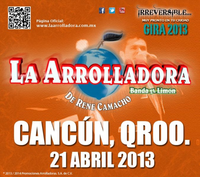 La Arrolladora en Cancun 2013
