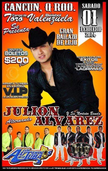 julion alvarez en cancun - febrero 2014