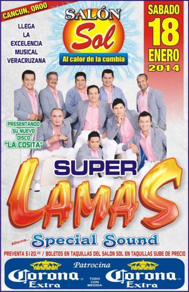 Super Lamas en Cancun - Enero 2014