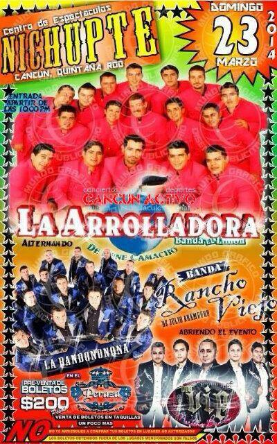 Arrolladora - Banda - Cancun - 2014