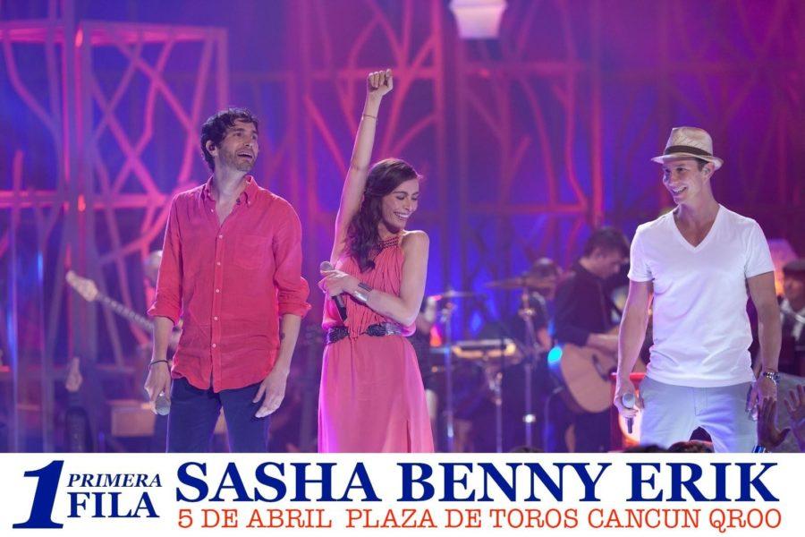 Concierto de Sasha Benny Erik Cancun 2014