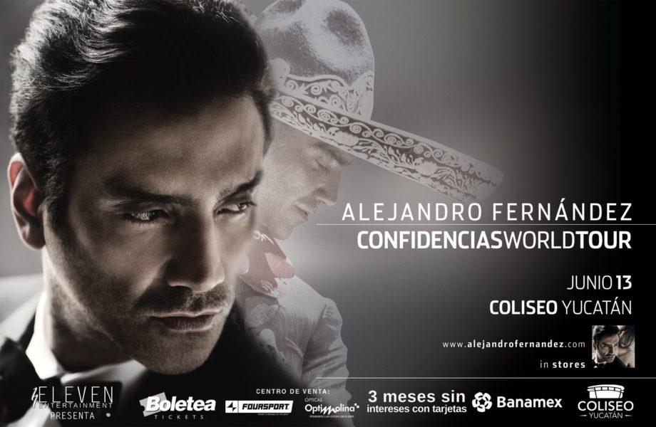 Alejandro Fernandez en Merida Junio 2014