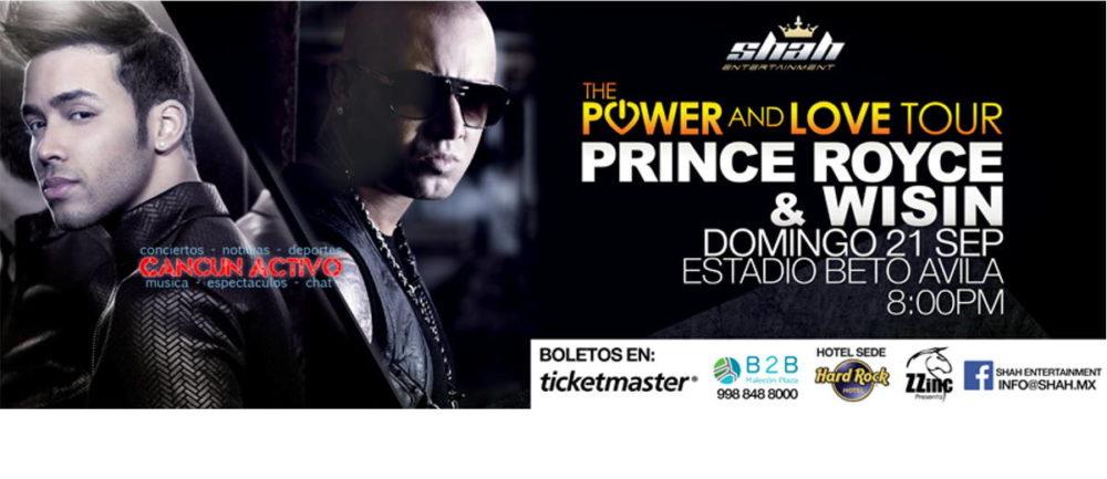 Concierto Prince Royce en Cancun 2014