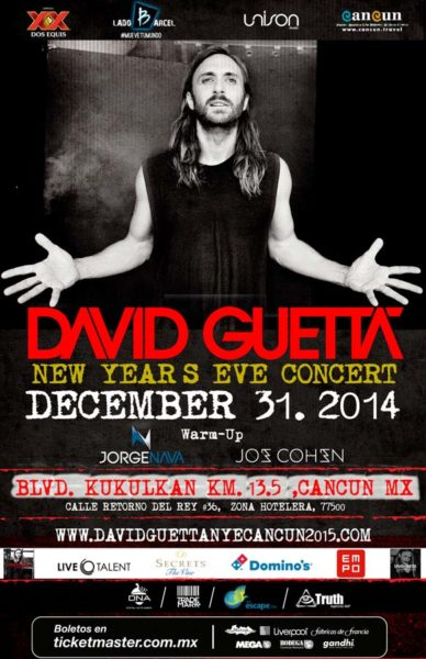 David Guetta en Cancun 2014