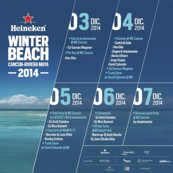 Calendario Heineken Winter Beach 2014