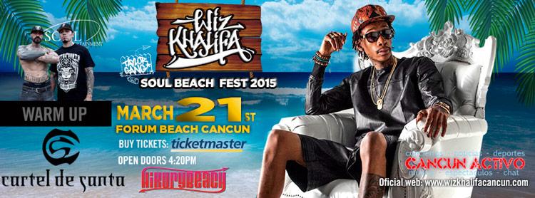 Wiz Khalifa Cancun 2015 Cartel de Santa