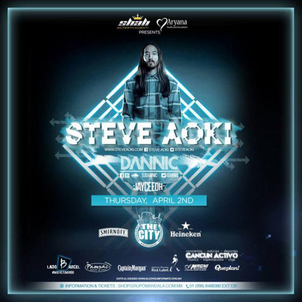 Steve Aoki Cancun 2015