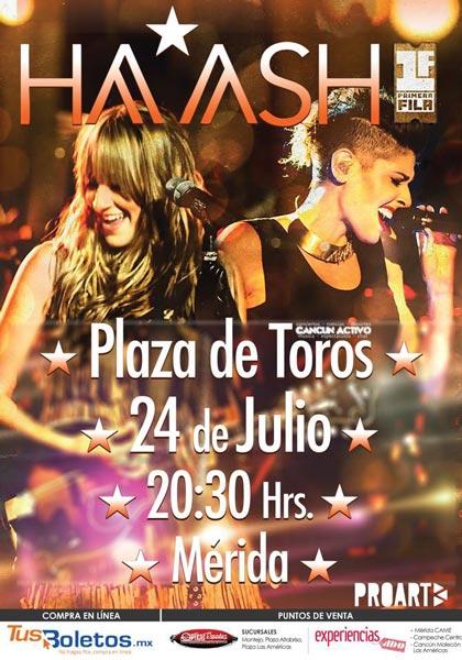 Ha Ash en Mérida - 24 de Julio 2015