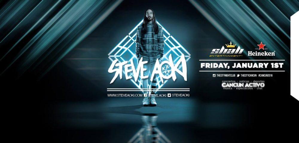 Steve Aoki Cancun 2016