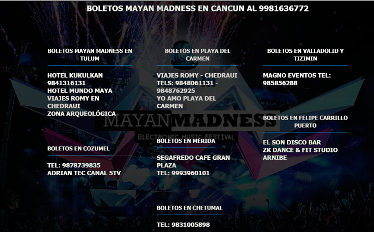 Comprar boletos Mayan Madness