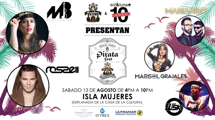 pirata fest en isla mujeres