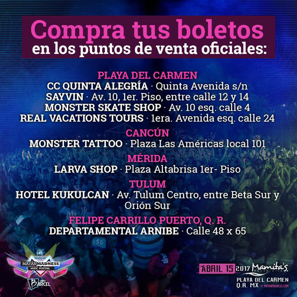 Mayan Madness 2017 boletos