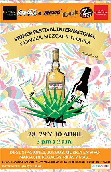Festival de Cerveza, Tequila y Mezcal en Cancún - 28 al 30 de abril