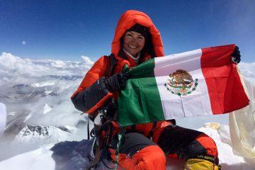 Mexicana en el Everest