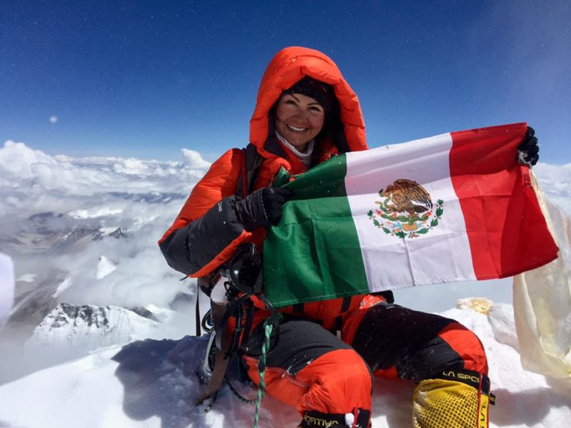 Mexicana en el Everest