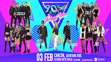 90s pop tour cancun elenco