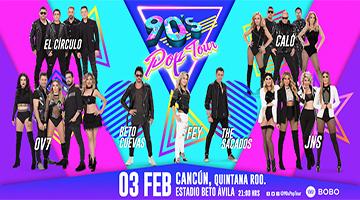90s pop tour cancun elenco