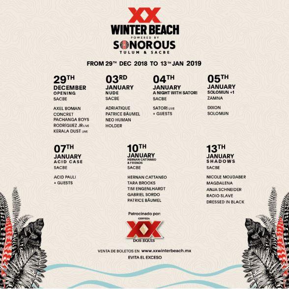 xx winter beach 2018 cartel