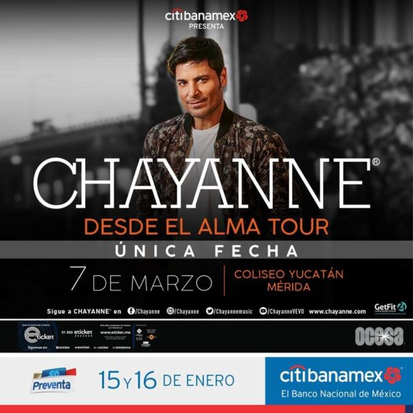 Chayanne en Mérida 2019
