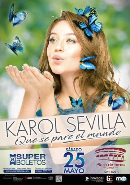Karol Sevilla en Cancún
