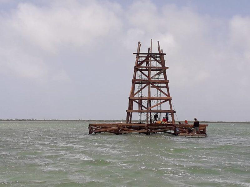 Torre de vigilancia en Xcalak