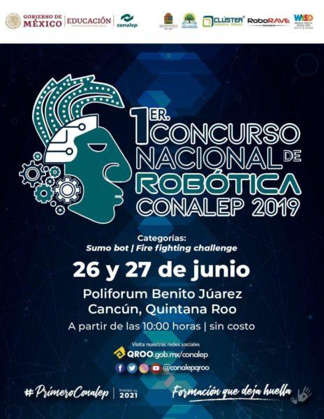 Concurso de Robótica CONALEP en Cancún