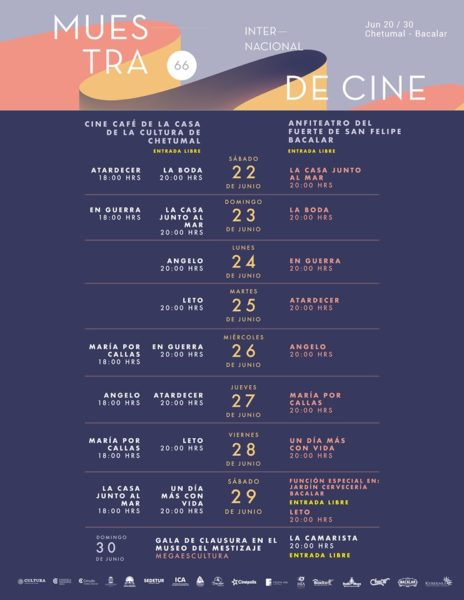Muestra Internacional de Cine en Chetumal
