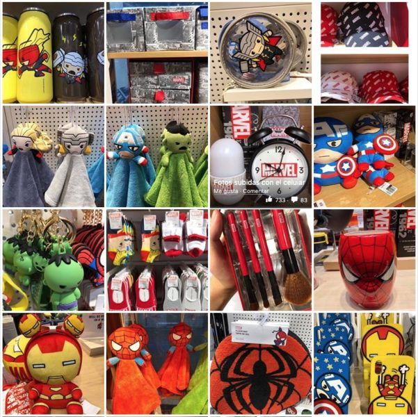 Productos Marvel en Miniso