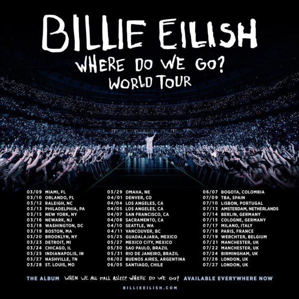 Billie Eilish anuncia conciertos en México y Guadalajara
