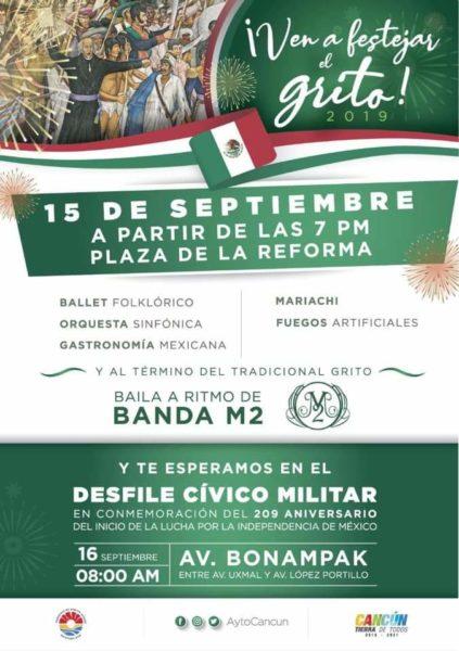 Concierto en Cancún este 15 de Septiembre