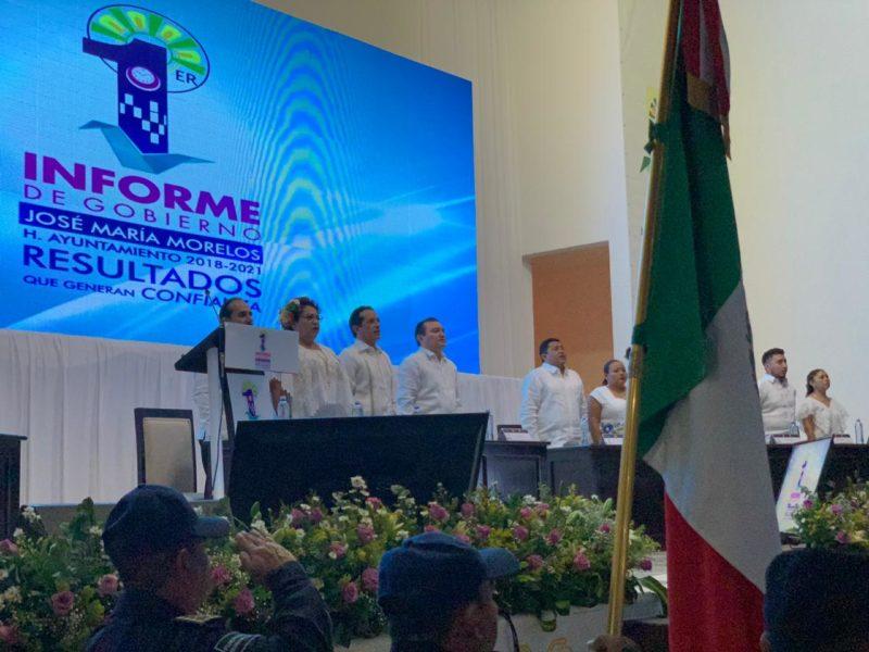 Rinden informes alcaldes de José María Morelos y Felipe Carrillo Puerto