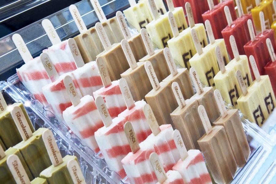Fendi instala una heladería en Milán
