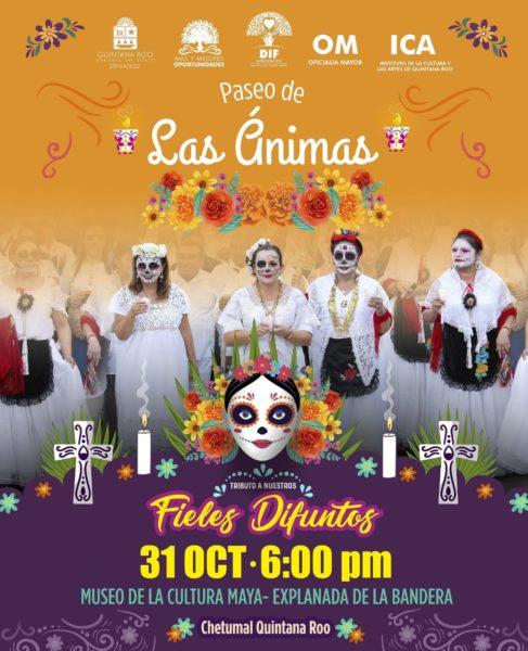 Paseo de las animas en Chetumal