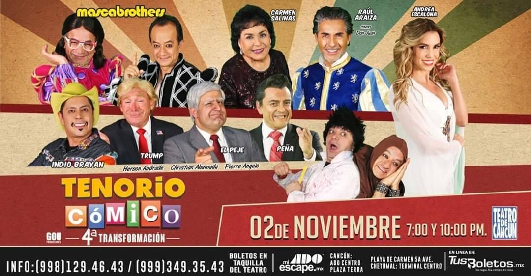 Tenorio Cómico en Cancún 2019