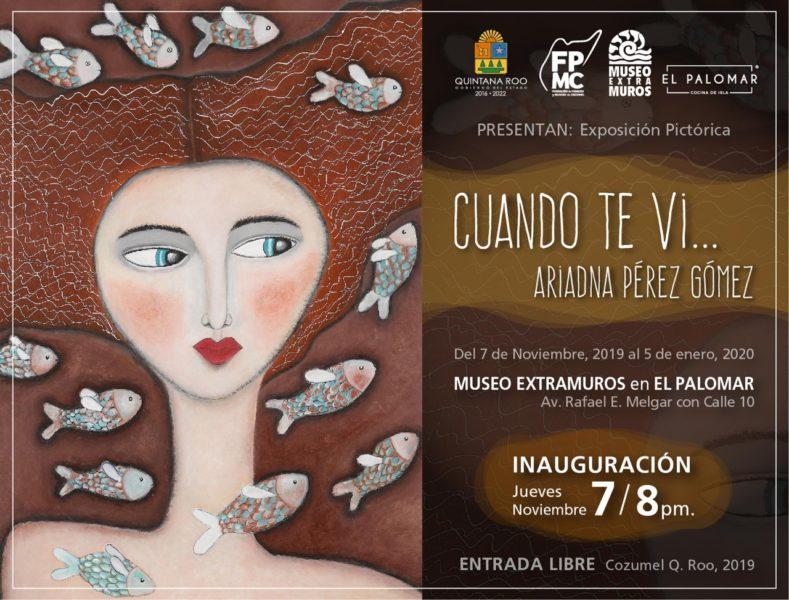 """exposición """"Cuando te vi…"""" de Ariadna Pérez Gómez"""