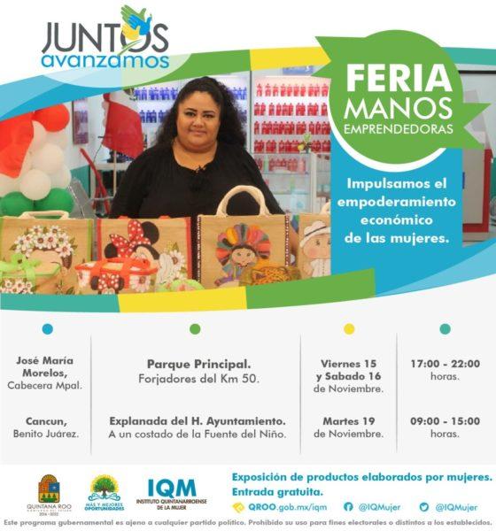 Feria Manos Emprendedoras en José María Morelos