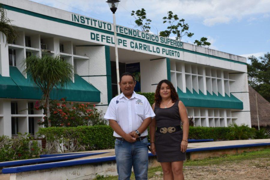 Docentes del Tec de Felipe Carrillo Puerto inventaron un recogedor vertical de basura