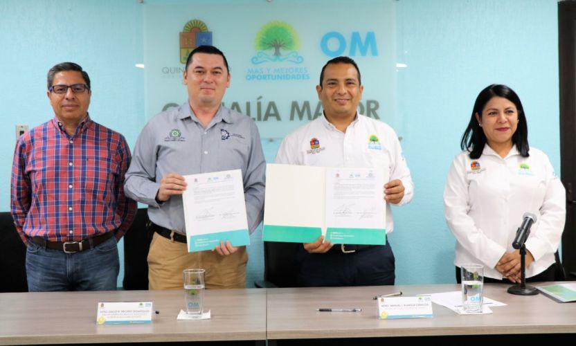 Firman convenio la Oficialía Mayor y el Tec de Carrillo Puerto