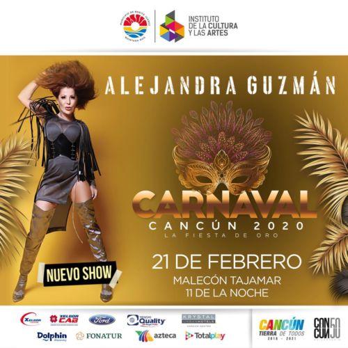 Concierto de Alejandra Guzmán en Carnaval de Cancún