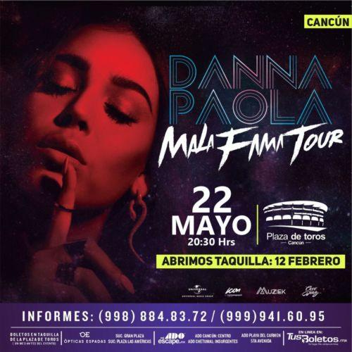 Confirmado: Danna Paola en Cancún el 22 de Mayo ¿Dónde comprar boletos?