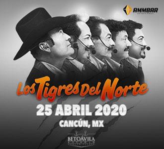 Los Tigres del Norte en a Cancún este 25 de abril