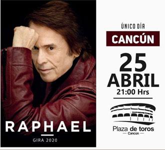 Raphael en Cancún el próximo 25 de abril de 2020
