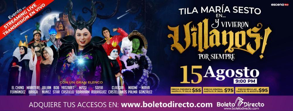"""Todo listo para el próximo show de Tila Maria Sesto """"Y vivieron villanos por siempre"""""""