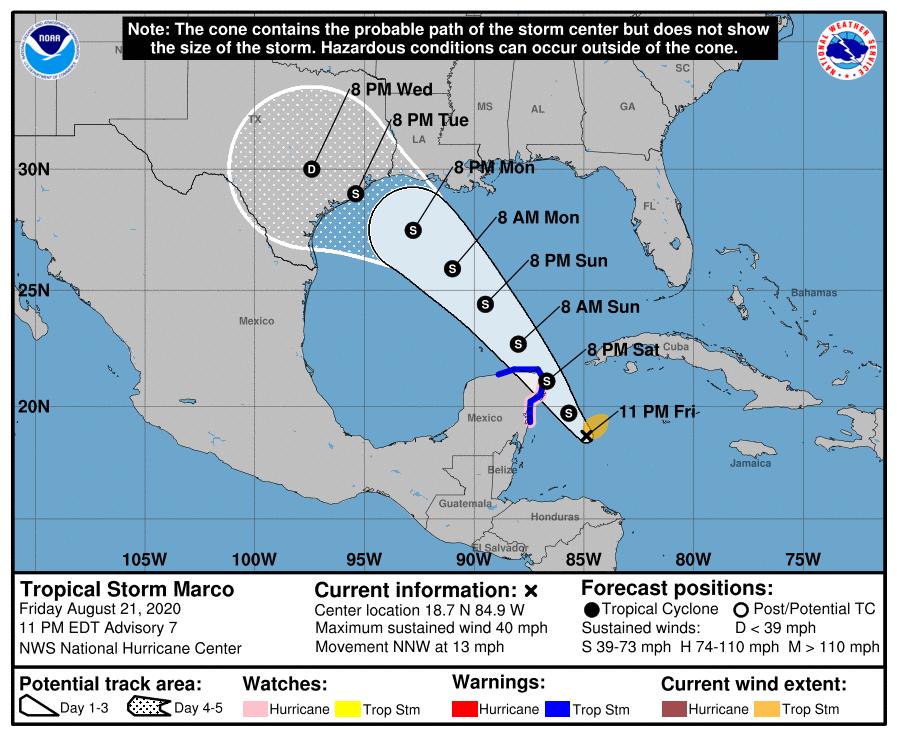 Depresión 14 se convierte en Tormenta tropical Marcos y viene para Cancún