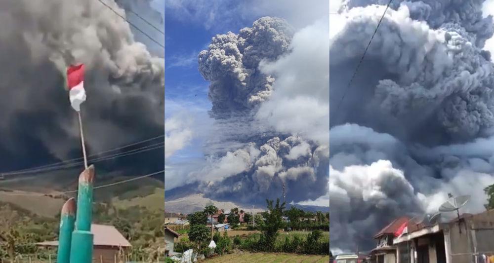 Videos: Impresionante erupción del volcán Sinabung en Indonesia
