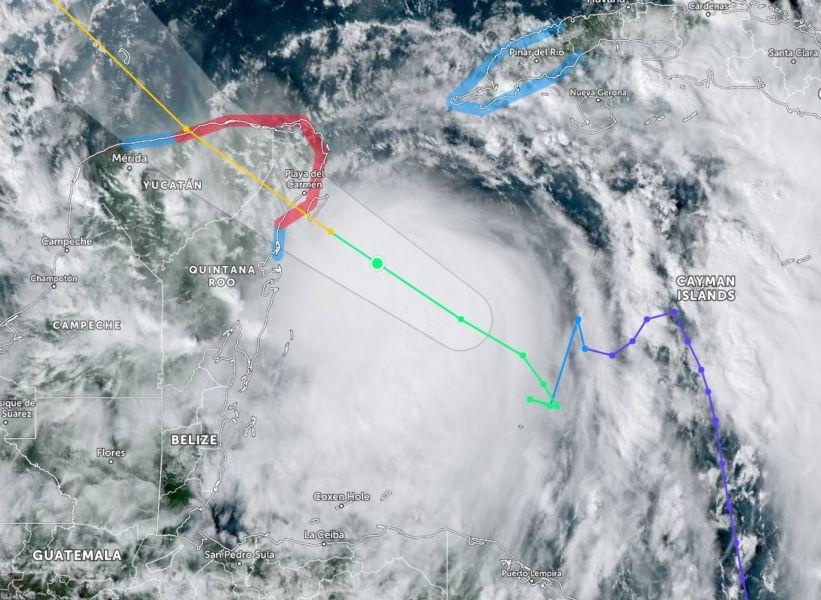 Zeta ya es huracán categoría 1, esta es su trayectoria según pronósticos