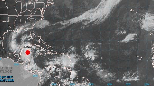 Peligroso Huracán Delta de Categoría 4 se aproxima a Quintana Roo