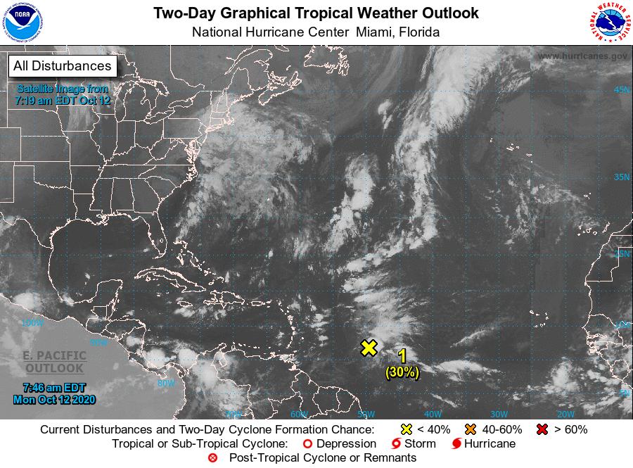 Onda tropical continúa avanzando hacia México en el Atlántico